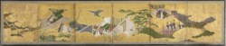 "WALTERS: Japanese: Six-fold Screen with Scenes from ""The Genji Monogatari"" 1558"