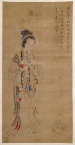 WALTERS: Chinese: Mother Presenting her Prayed-for Child to the Temple 1701