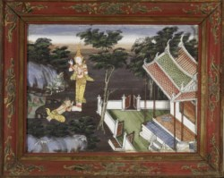 WALTERS: Thai: Vessantara Jataka, Chapter 8: Jali at Vessantara's Feet 1875