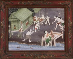 WALTERS: Thai: Vessantara Jataka, Chapter 5: The Brahmin Jujaka with his wife Amittapana 1875