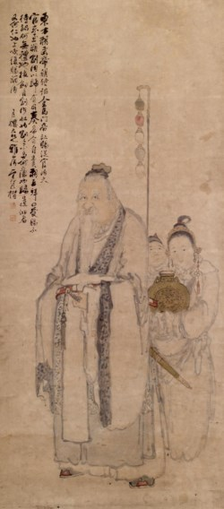 WALTERS: Pao K'ai (Chinese): Portrait of Dong Fang Suo [Tung-fang So] with Two Attendants 1701