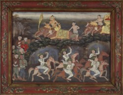 WALTERS: Thai: Vessantara Jataka, Chapters 12 & 13: Jali's Army Recovers Vessantara and Returns to the Capital 1875