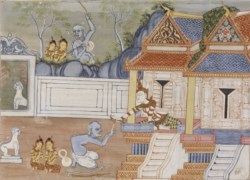 WALTERS: Thai: Vessantara Jataka, Chapter 8 (The Royal Children) 1920