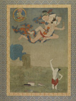 WALTERS: Tibetan: Mahasiddha Ghantapa and the Great Flood 1700