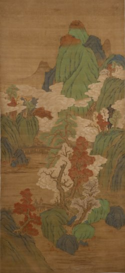 WALTERS: Style of Chang Sem-yu: Autumn Landscape in Blue-and-Green Style 1601