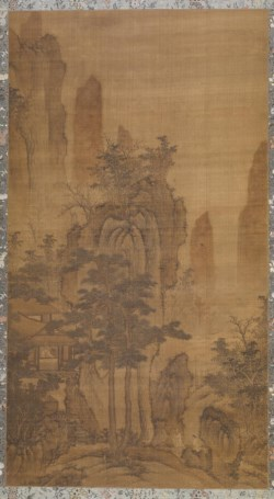 WALTERS: Sheng Mou (Chinese, 1313-1362) (?): Mountain Landscape with Scholar in a Pavilion and Two Figures Approaching 1601