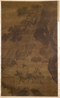 WALTERS: Zhang Lu (Chinese, 1464-1538): A Traveler Contemplates a Waterfall 1500