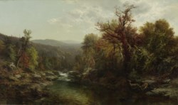 WALTERS: James McDougal Hart (American, 1828-1901): A Stream in the Adirondacks 1859