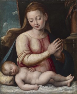 WALTERS: Barbara Longhi (Italian, 1552-ca. 1638): Madonna Adoring the Child 1552