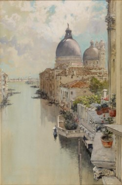 "WALTERS: Francis Hopkinson Smith (American, 1838-1915): ""Over a Balcony,"" View of the Grand Canal, Venice 1885"