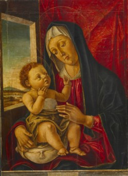 WALTERS: Workshop of Bartolomeo Vivarini (Italian, active ca. 1450-1491): Madonna and Child 1477