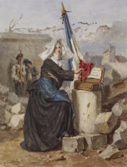 WALTERS: Alexandre-Marie Guillemin (French, 1817-1880): Aid for the Wounded (Sister of Charity) 1853
