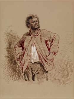 WALTERS: Paul Gavarni (French, 1804-1866): Peasant 1852