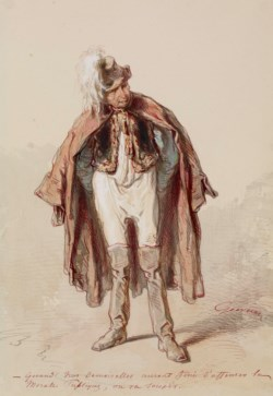 WALTERS: Paul Gavarni (French, 1804-1866): Man in Costume 1859
