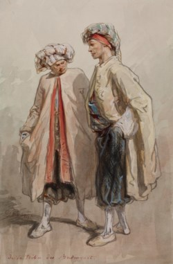 WALTERS: Paul Gavarni (French, 1804-1866): Two Men in Fancy Dress Costume 1861