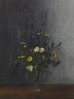 WALTERS: Léon Bonvin (French, 1834-1866): Vase of Flowers 1863