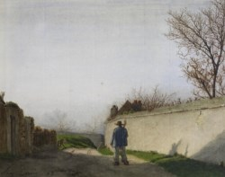 WALTERS: Léon Bonvin (French, 1834-1866): Country Lane with Peasant 1863