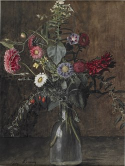 WALTERS: Léon Bonvin (French, 1834-1866): Vase of Flowers 1838