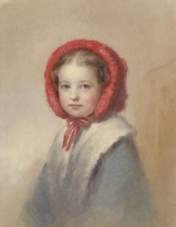 WALTERS: George Augustus Baker (American, 1821-1880): Little Girl in a Red Bonnet 1821