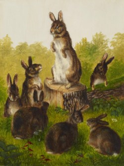 WALTERS: William Jacob Hays Sr. (American, 1830-1875): Rabbits 1889