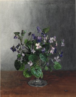 WALTERS: Léon Bonvin (French, 1834-1866): Goblet with Violets 1863