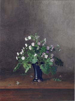 WALTERS: Léon Bonvin (French, 1834-1866): Vase of Flowers 1864