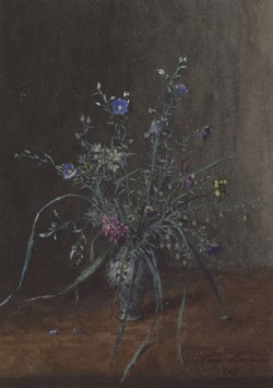 WALTERS: Léon Bonvin (French, 1834-1866): Vase of Wild Flowers 1865