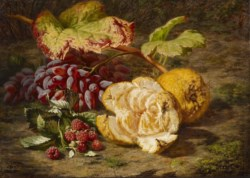 WALTERS: Simon Saint-Jean (French, 1808-1860): Still Life with Fruit 1838