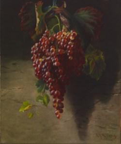 WALTERS: Andrew John Henry Way (American, 1826-1888): Bunch of Grapes 1873