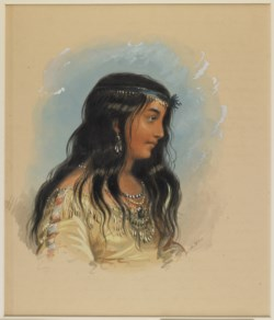 WALTERS: Alfred Jacob Miller (American, 1810-1874): A Young Woman of the Flat Head Tribe 1858