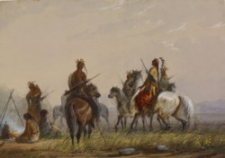 WALTERS: Alfred Jacob Miller (American, 1810-1874): Expedition to Capture Wild Horses -Sioux 1858