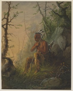 WALTERS: Alfred Jacob Miller (American, 1810-1874): Sioux Indian at a Grave 1858