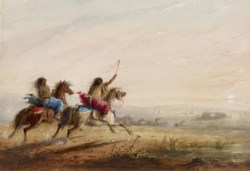 WALTERS: Alfred Jacob Miller (American, 1810-1874): Indian Girls: Racing 1858