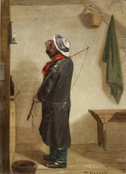 WALTERS: Charles Felix Blauvelt (American, 1824-1900): Warming Up (Coachman Drinking) 1853