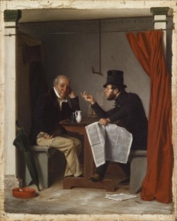 WALTERS: Richard Caton Woodville (American, 1825-1855): Politics in an Oyster House 1848