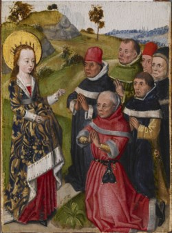 WALTERS: Flemish: Saint Catherine Converting the Scholars 1468