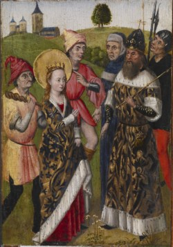 WALTERS: Flemish: Saint Catherine Confronting the Emperor 1468