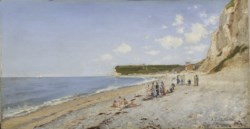 WALTERS: Auguste-Emile Flick (French, active 1870-1882): The Beach at Fécamp 1875