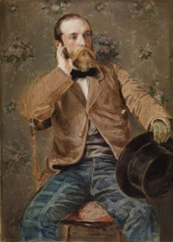 WALTERS: Richard Caton Woodville (American, 1825-1855): Self-Portrait with Flowered Wallpaper 1848