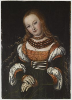 WALTERS: Lucas Cranach the elder (German, 1472-1553): Mary Magdalene (?) 1513