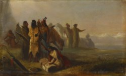 WALTERS: Alfred Jacob Miller (American, 1810-1874): Scene of Trappers and Indians 1810