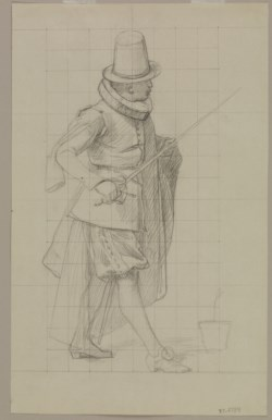"WALTERS: Jean-Léon Gérôme (French, 1824-1904): Study for ""The Tulip Folly"" 1800"
