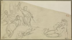 WALTERS: Eugène Delacroix (French, 1798-1863): The Children of Niobe Killed by Diana None