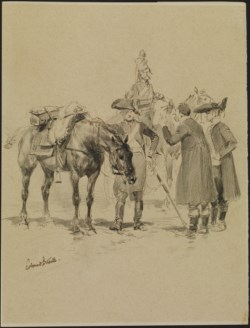 WALTERS: Jean Baptiste Edouard Detaille (French, 1848-1912): Two Soldiers with Horses None