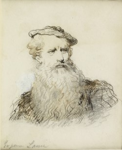 WALTERS: Eugène Louis Lami (French, 1800-1890): Portrait of a Bearded Man None