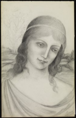 WALTERS: Armand Point (French, 1861-1932): Bust of a Maiden in a Landscape 1910