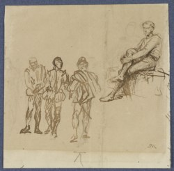 WALTERS: Jean-Louis-Ernest Meissionier (French, 1815-1891): Four Figural Studies None