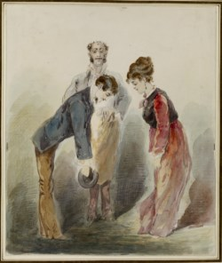 WALTERS: Alfred Grevin (French, 1827-1892): Man Bowing to a Woman None