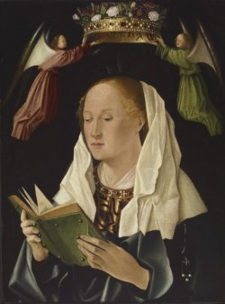 WALTERS: Antonello da Messina (Italian, ca. 1430-1479) (?): The Virgin Mary Reading 1448