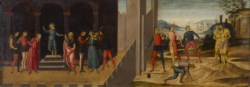 WALTERS: Venetian: The Trial and Stoning of the Elders 1488